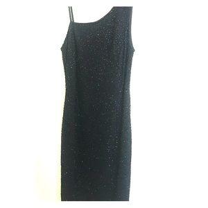 Size 4 Marina black sequin dress